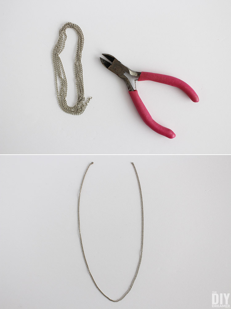 How to cut chain to make a necklace