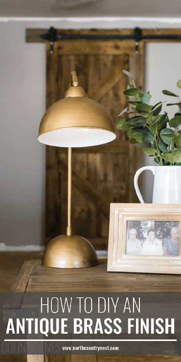 Table Lamp Makeover with a DIY Antique Brass Finish
