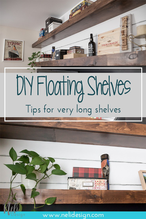 How to Make Very Long Floating Shelves