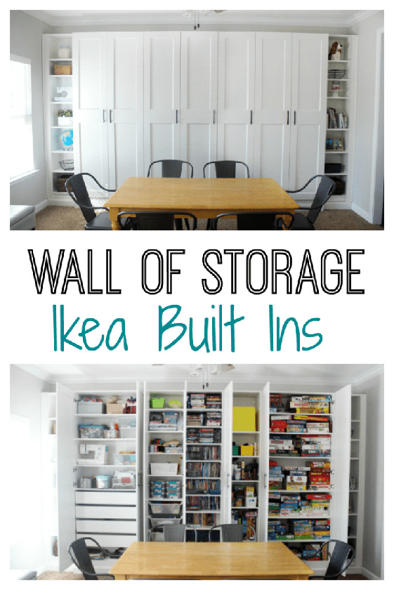DIY IKEA Built Ins: A Wall of Storage