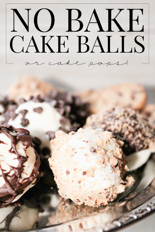 No-Bake Cake Pops / No-Bake Cake Balls