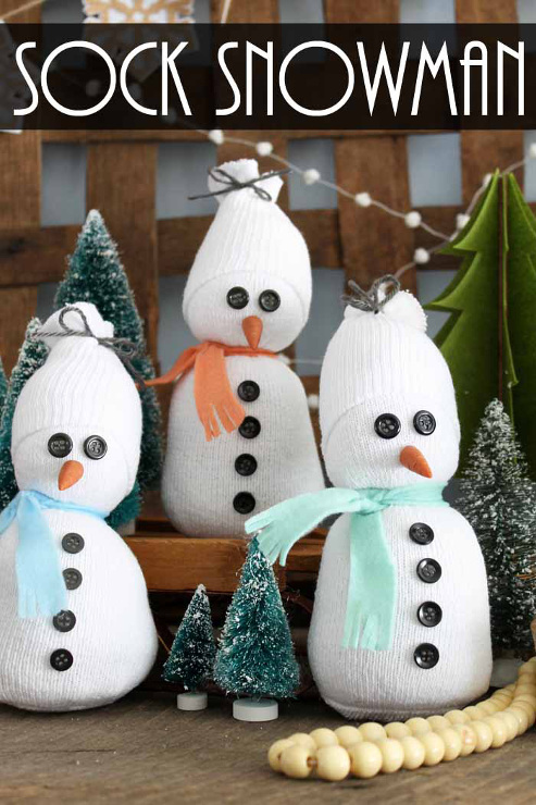 Sock Snowman: A quick and easy craft idea!