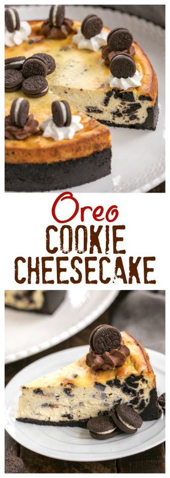 Oreo Cheesecake with Oreo Cookie Crust