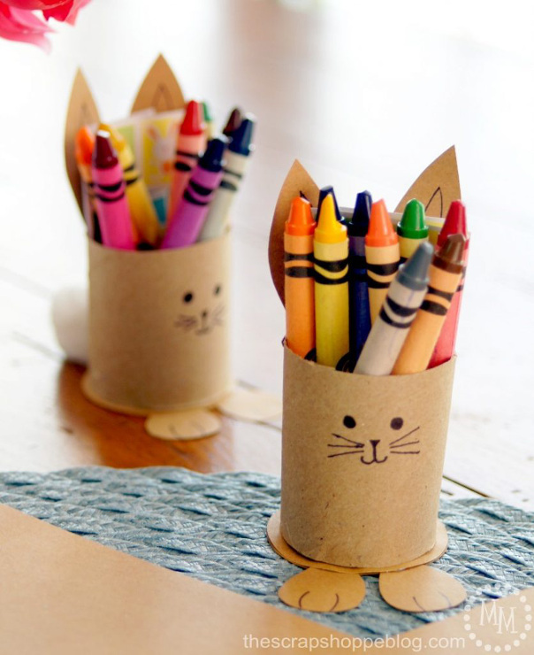 Easter Activity Sheets and Bunny Crayon Holder