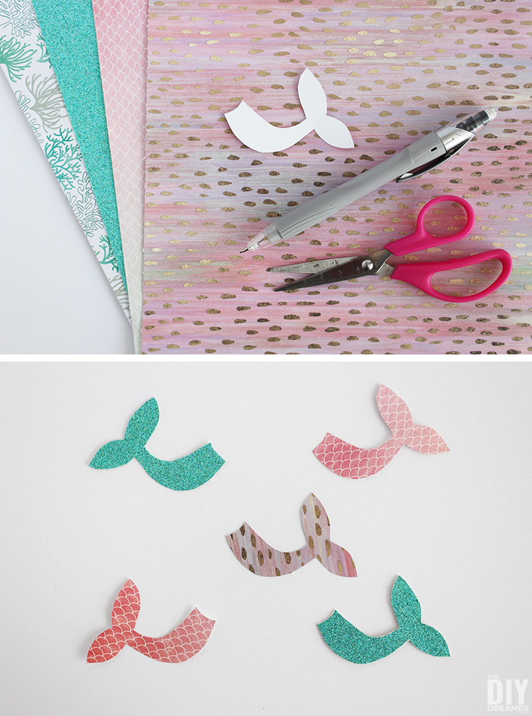 How to make colorful mermaid tails