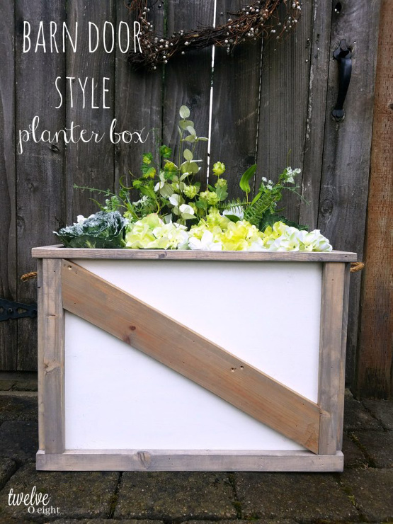 How to make a barn door style planter box