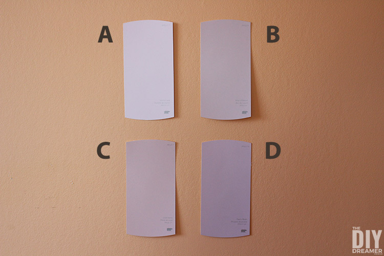 Choosing bedroom colors for a teen bedroom.