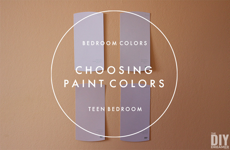 Choosing bedroom colors for a teen room should be a fun task. See how we chose paint colors for our teenager's bedroom while having some fun. #paint #paintcolors #teenbedroom