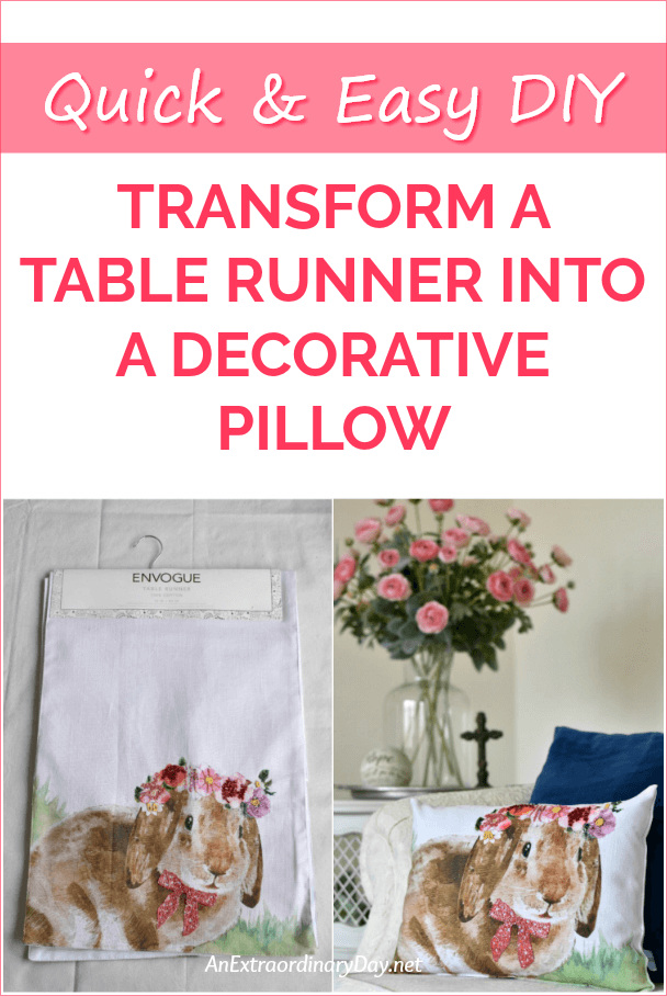 How to Make a Pillow from a Table Runner