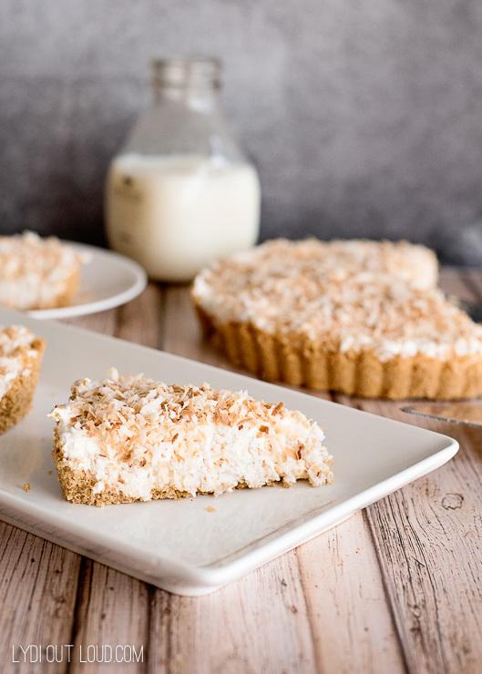 Toasted Coconut Cheesecake Tart Recipe
