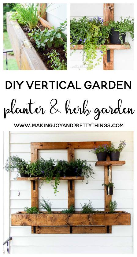 DIY Vertical Herb Garden and Planter. 2x4 Challenge