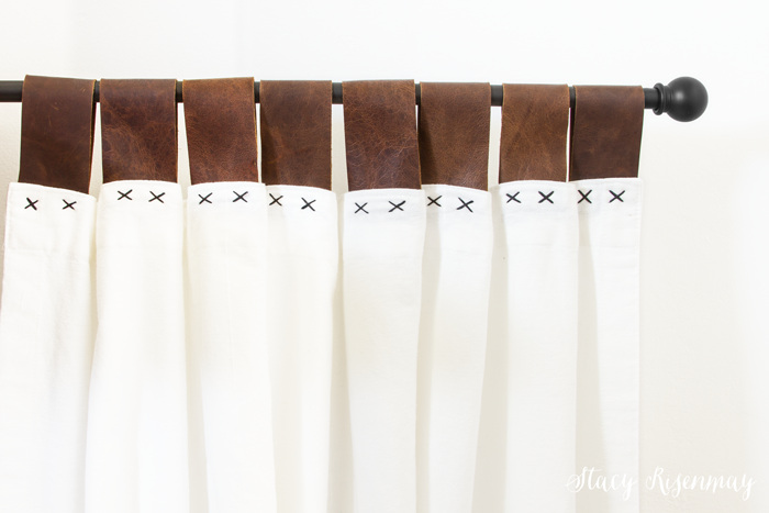 Leather Tab Curtains {Sewing Leather}