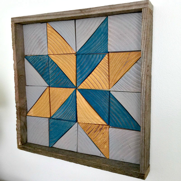 DIY Wooden Quilt Square Tray