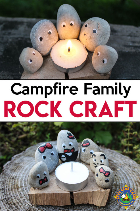 Campfire Family Camping Rock Craft