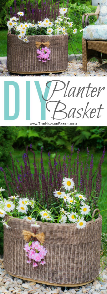 DIY Planter Basket {With Casters}