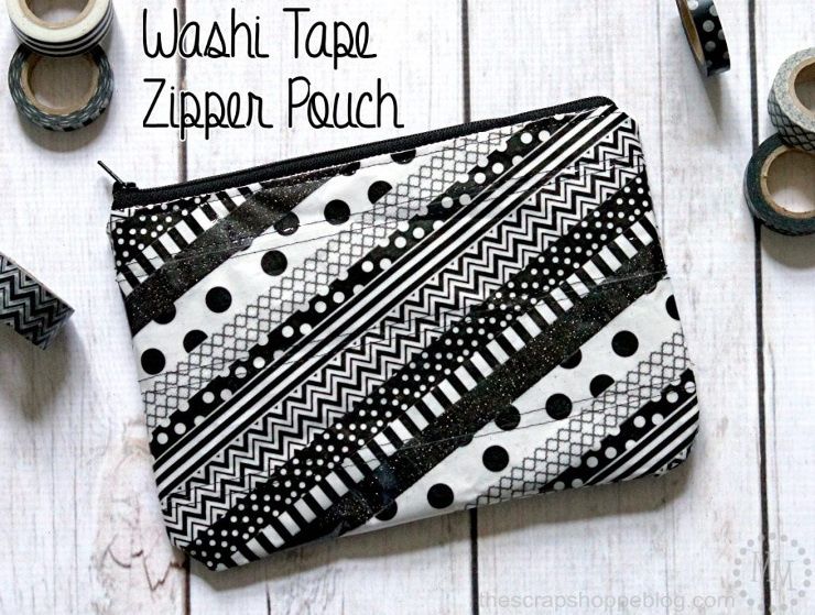 Washi Tape Zipper Pouch