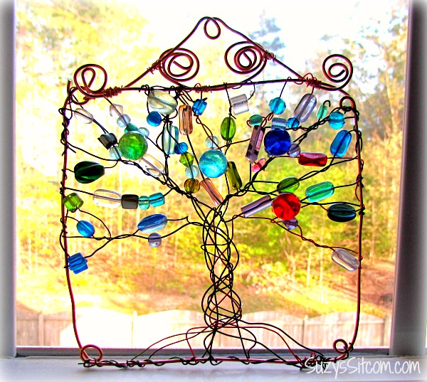 How to make a Wire Wrapped Tree Sun Catcher