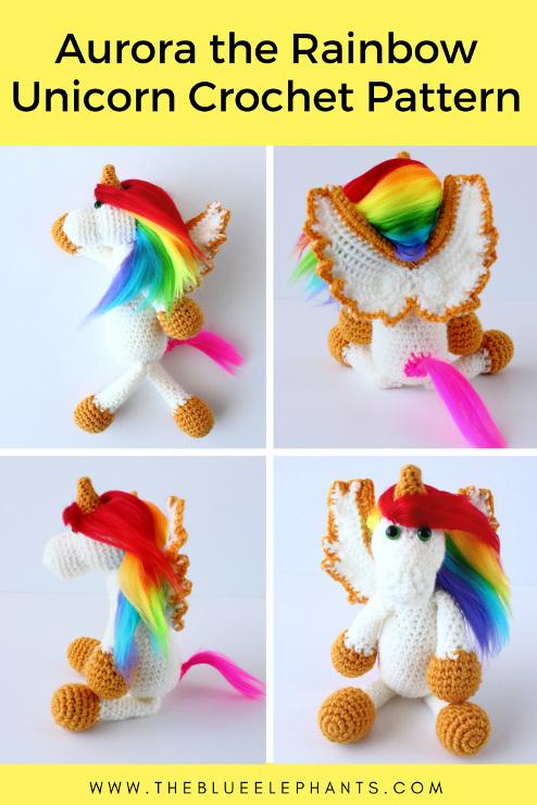 Aurora the Rainbow Unicorn: Free Crochet Pattern