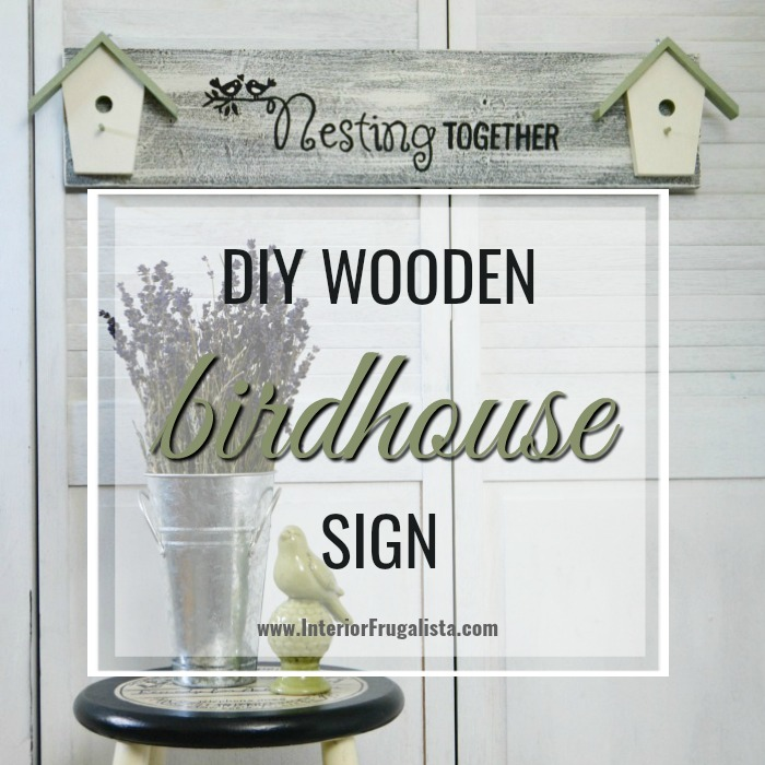 DIY Wooden Birdhouse Sign For Lovebirds