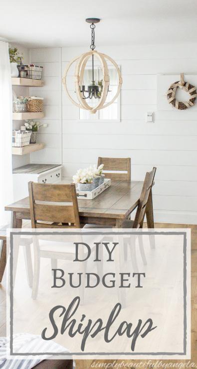 DIY Shiplap On a Budget