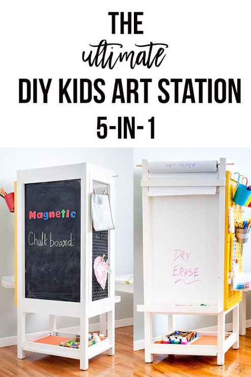 DIY Kids Art Station