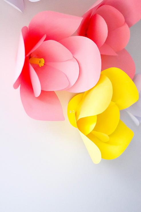 The Easiest DIY Paper Flowers