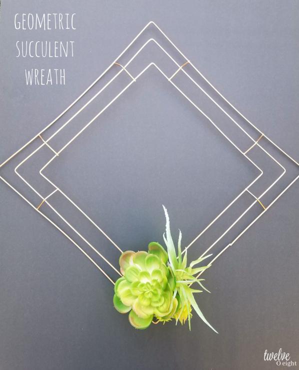 DIY Geometric Succulent Wreath