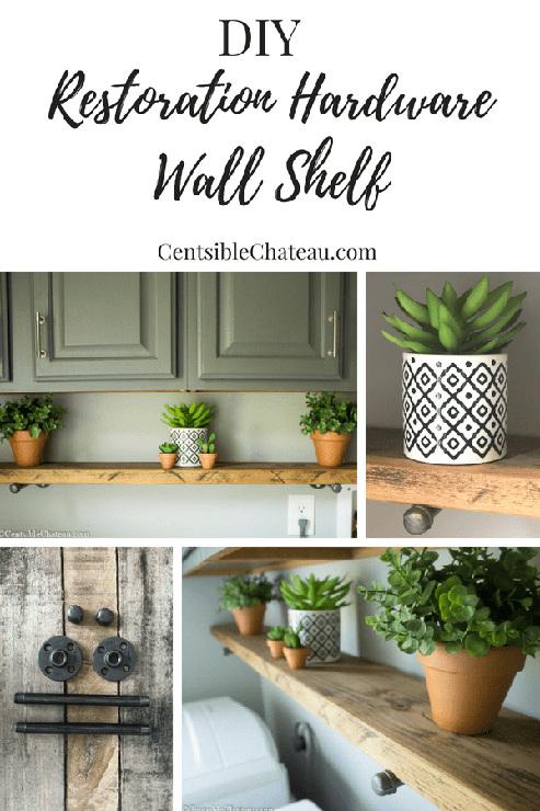 DIY Restoration Hardware Wall Shelf for Under $20