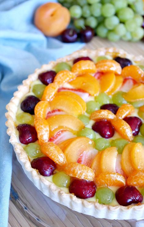 Fresh Fruit Tart with Orange Curd Recipe