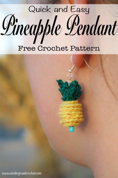 Crochet Pineapple Pendant Free Crochet Pattern