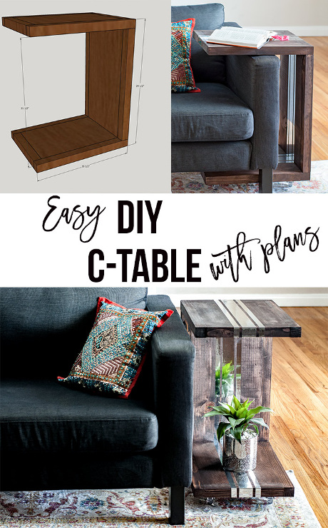 DIY C-Table with Mirror Accents