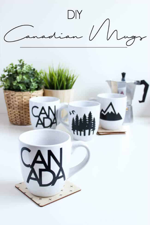 Make Your Own Canadian Mugs with Cricut