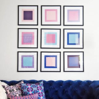 DIY Color Block Wall Art