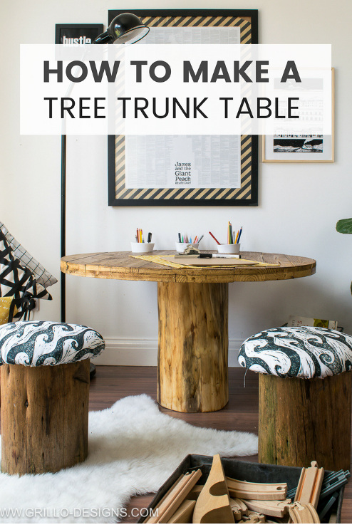 How To Make A Tree Trunk Table ('With Toadstools')