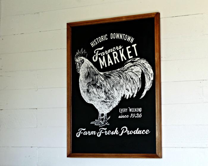 Incredibly Beautiful DIY Farmers Market Chalkboard