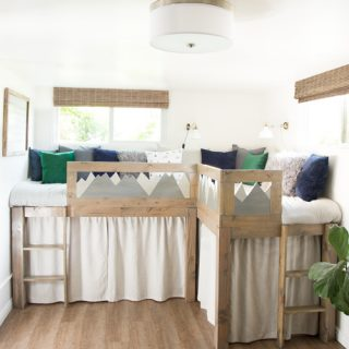 DIY L Shaped Kid Beds with Storage