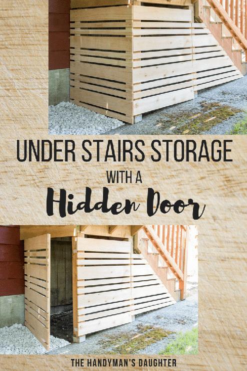 Under Stairs Storage with a Hidden Door