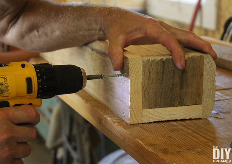 Attaching the sides of the planter