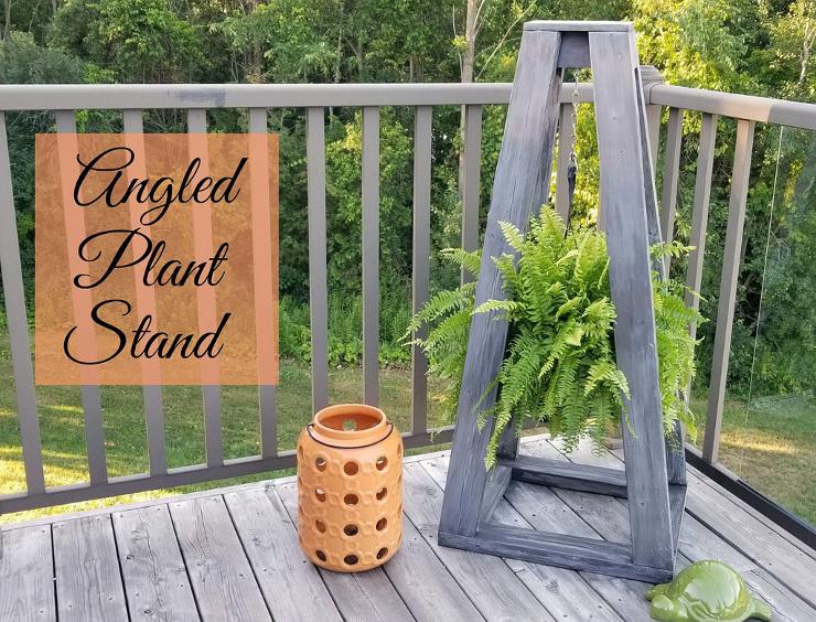 DIY Angled Plant Stand