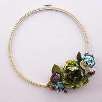 Embroidery Hoop Floral Wreath