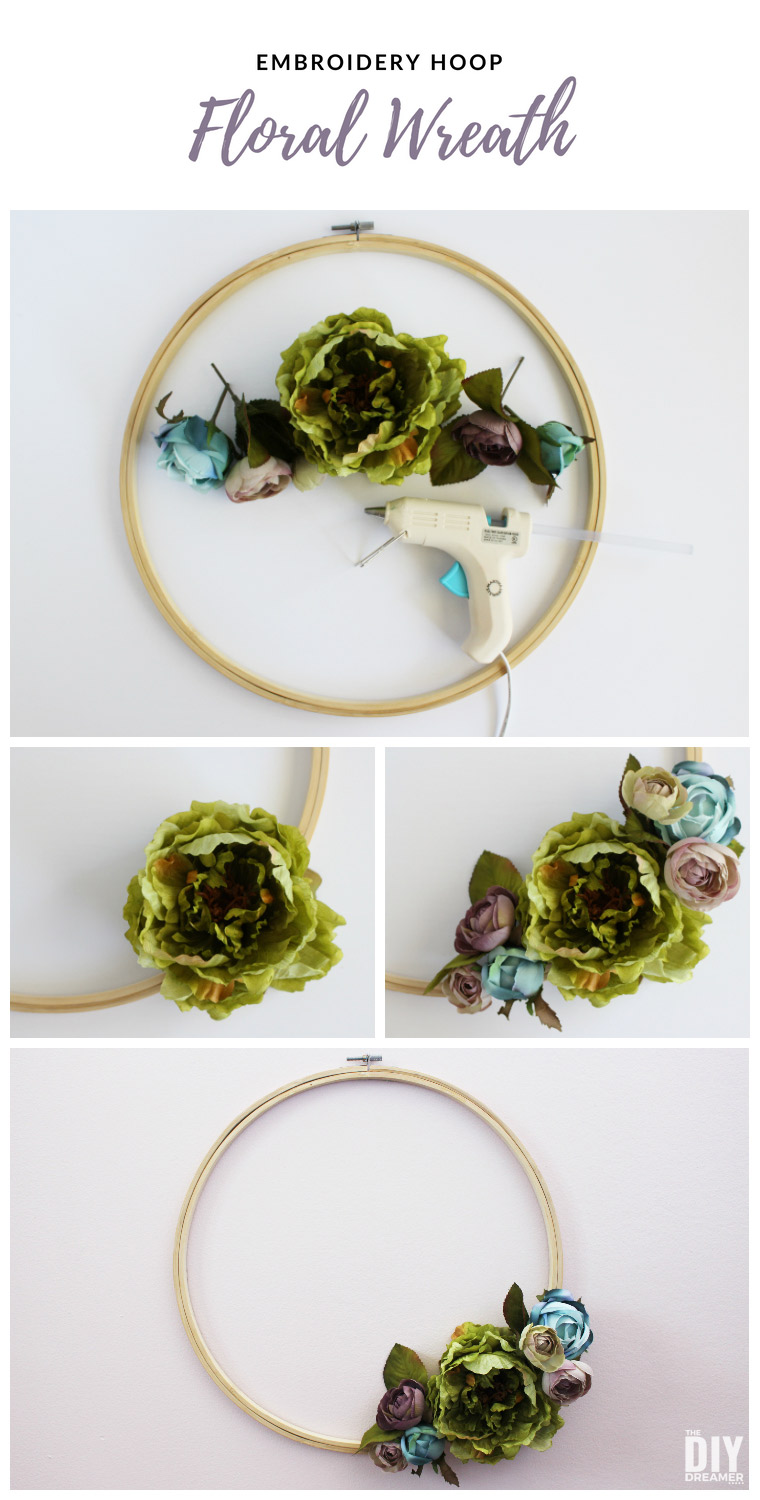 how to make embroidery hoop art
