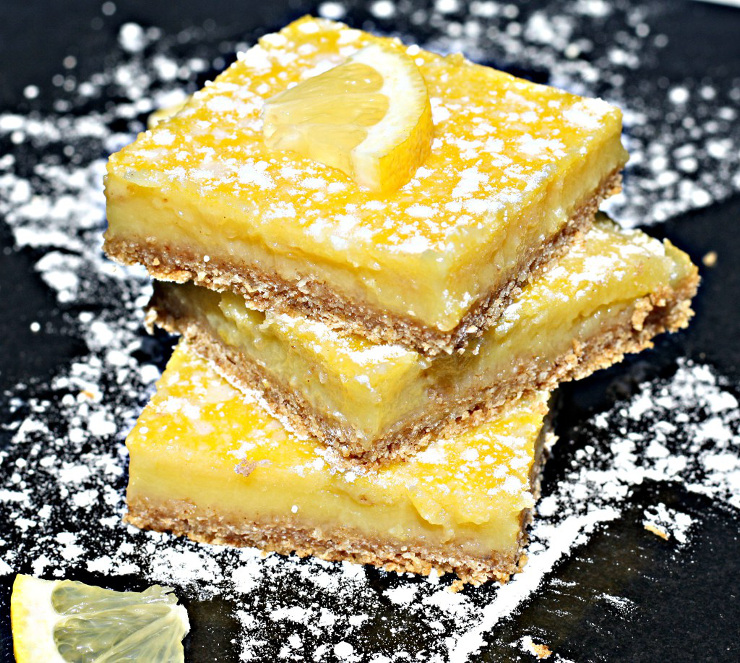 Lemon Bars - Tart, Tangy and only 69 calories