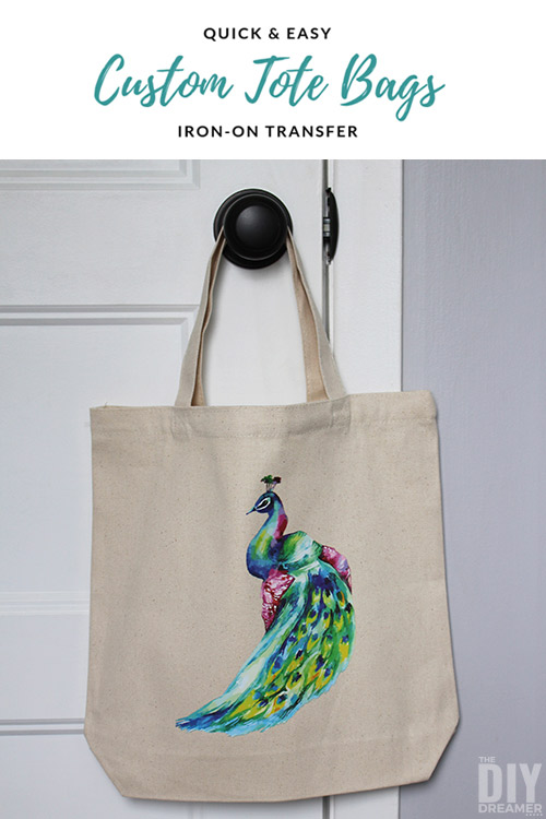 Create beautiful custom tote bags quickly with iron-on transfers.