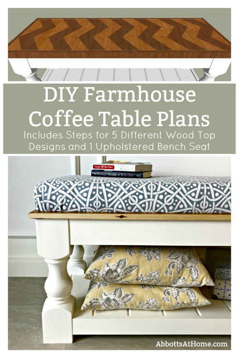 DIY Farmhouse Coffee Table Plans