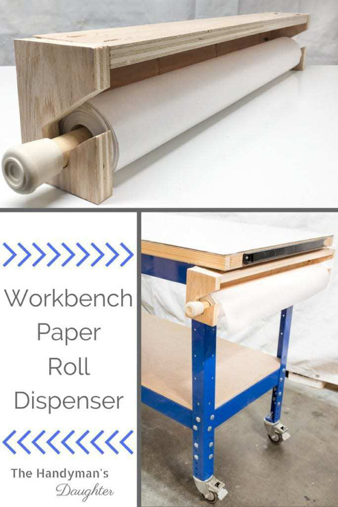 Workbench Paper Roll Dispenser