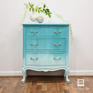French Provincial Nightstand – Ombré Blending Technique