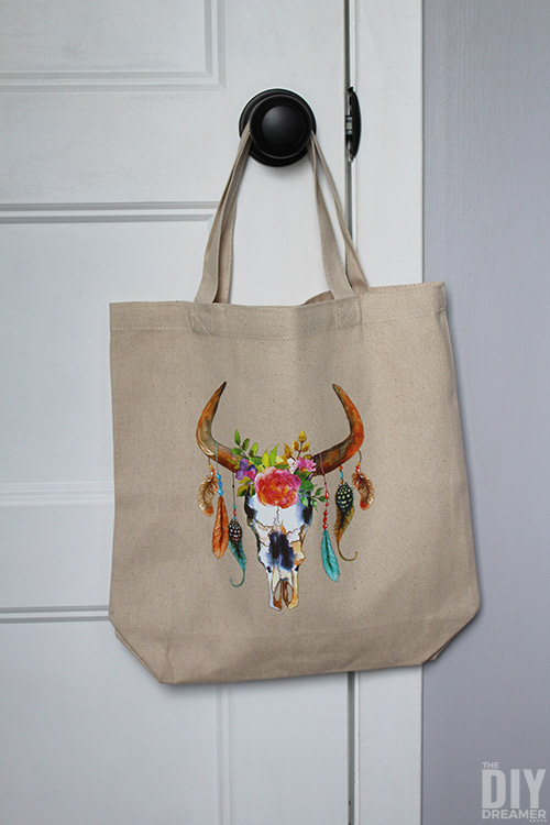 Stunning personalized tote bag.