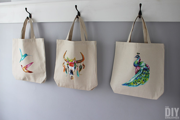Quick and easy custom tote bags!