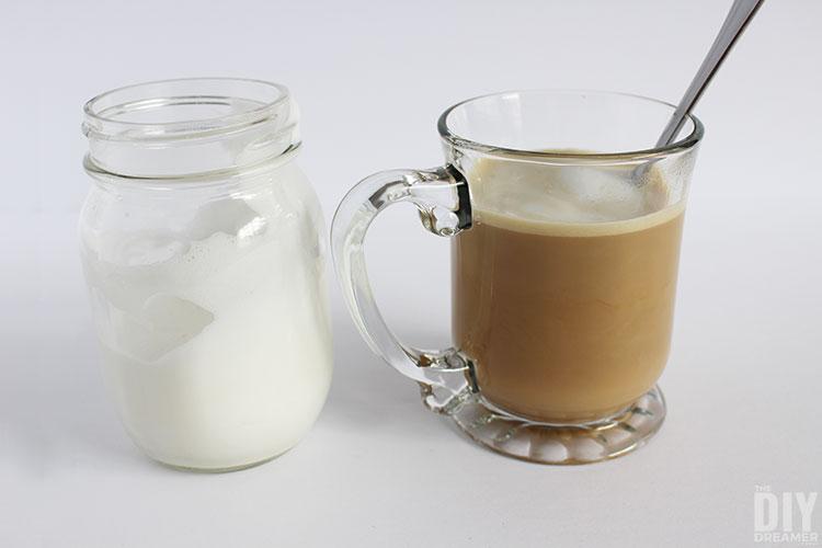 Stir cafe au lait mixture