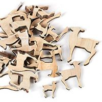 Laser Cut Unfinished Wooden Deer Cutouts | 60 Ornaments